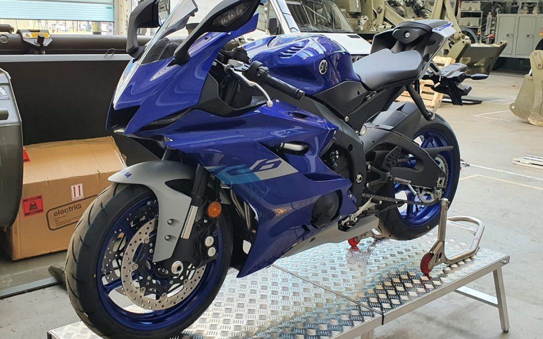 The team's Yamaha R6 has arrived!